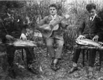 von links: unbekannt, Karl Maier und Anton Rack (Ambros´)